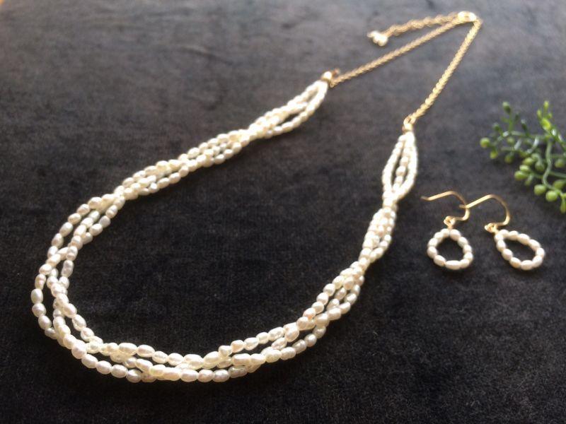 画像1: 【Knit】 三つ編みネックレス